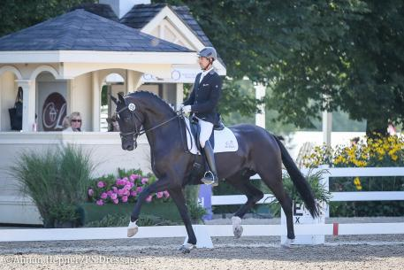 Michael Bragdell and SunSation HW (Photo: Annan Hepner/PS Dressage)