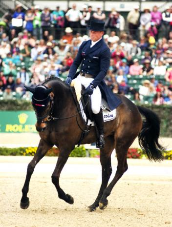 Michael Jung of Germany and FischerRocana stand second after the first phase at Rolex Kentucky.