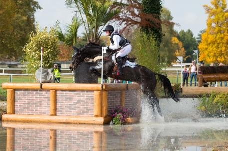 Michael Jung of Germany riding Fischerrocana FST taking part in the Cross Country phase of the CCI Four Star Etoiles De Pau International Horse Trials on Sat 24th October 2015