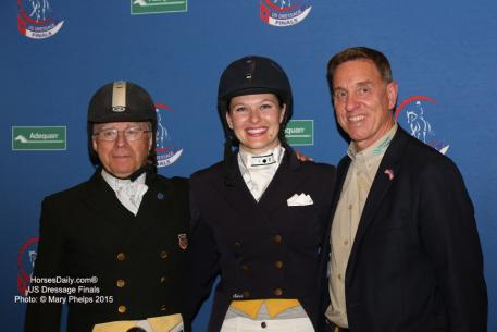 Michael Poulin, Emily Miles, and Adequan's Allyn Mann