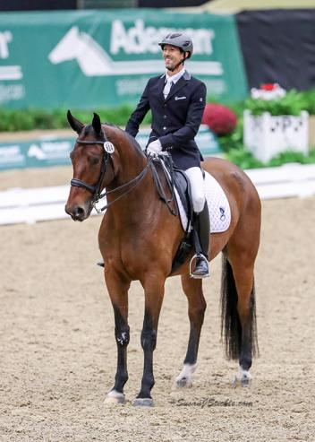 Maryland's Michael Bragdell had fun with his 80's-themed performance to win the Third Level Open Freestyle Championship at the 2016 US Dressage Finals presented by Adequan®.