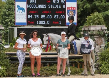 Natalie Jayne and Woodlands Stevie Ray, presentation ceremony, pony finals 2016