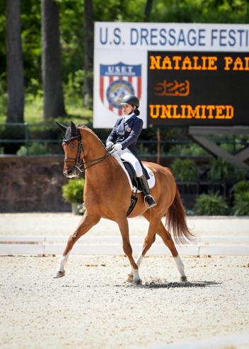 Natalie Pai and Unlimited earn the Reserve Championship in the Brentina Cup at the 2017 Dutta Corp. U.S. Dressage Festival of Champions in Gladstone, New Jersey