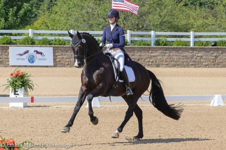 Veronica West and Nobleman (Photo: Emma Miller/PS Dressage)