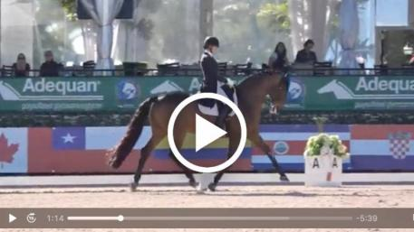 Watch Olivia LaGoy-Weltz and Lonoir's winning performance in the Grand Prix CDI4* class. (Video:  Richard's Equine Video)