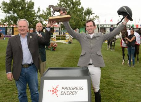 Philipp Weishaupt celebrates his win with Michael Culbert, President & CEO, Progress Energy.
