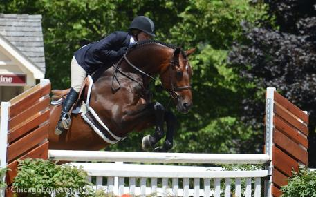 Point Being and Kelly Farmer were Champion in the Second Year Green Working Hunters. (Photo: Chicago Equestrian)