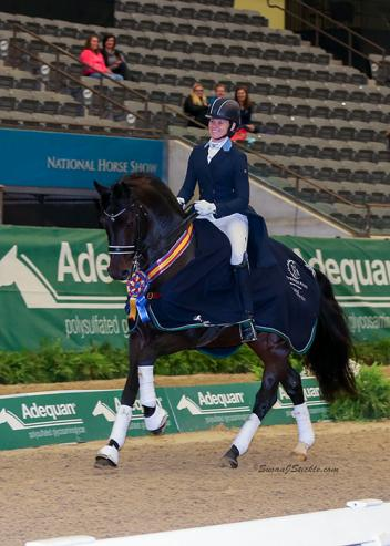 Rachael Hicks won the Prix St. Georges Adult Amateur Championship for the second straight year, this time aboard Don Cartier at the 2016 US Dressage Finals presented by Adequan®.