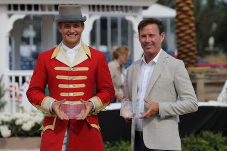 Scott Stewart was named Osphos Overall Hunter Trainer for the seventh year in a row and also took the award for Osphos Overall Hunter Rider once again.