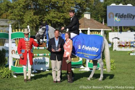 Shane Sweetnam and Indra Van De Oude Heihoef with Christopher Brehm (left) and wife Sharon (right) of Fidelity Investments.