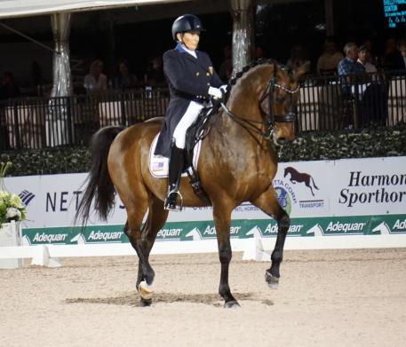 Francis and Doktor finishing strong during the Adequan Global Dressage Festival Grand Prix Week Seven (Photo: KPeacock)
