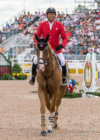 Showgirl, pictured with Yann Candele, has been retired following an illustrious international show jumping career for Canada.