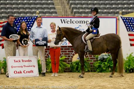 Sophie Gochman and Rico Suave awards us pony finals