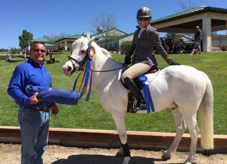 Lindsey Wagner and her pony, Pioneer, won Open Novice B at the Colorado Horse Park