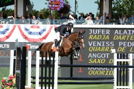 Eric Lamaze(CAN) and Fine Lady 5 (Photo: Diana DeRosa)