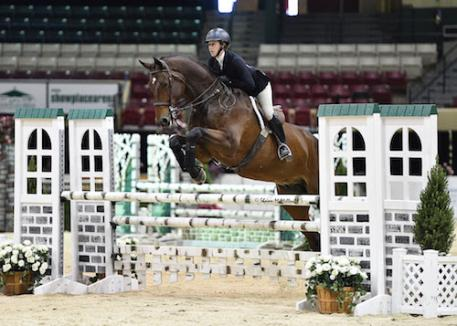 ummer Hill and Efendi on course during the 16-Year-Old Equitation Championship.