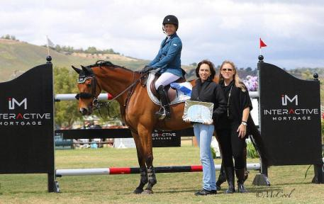 Susan Hutchison with Evette DeLong representing Interactive Mortgage and Melissa Brandes of Blenheim EquiSports
