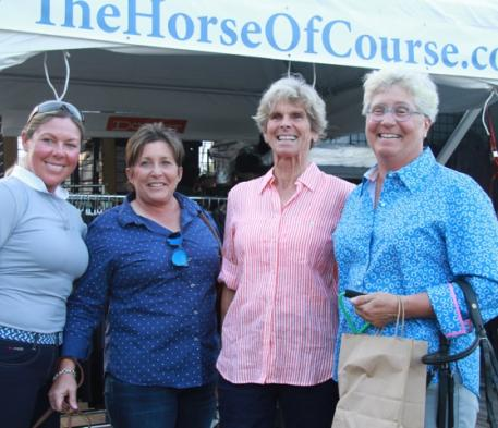 (Left to Right) Dressage Equestrians Kim Herslow, Shelly Francis, Dottie Morkis, and Sue Blinks.