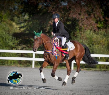 Five-year-old USEA Young Event Horse East Coast Champion Tim Bourke and Foreign Quality.