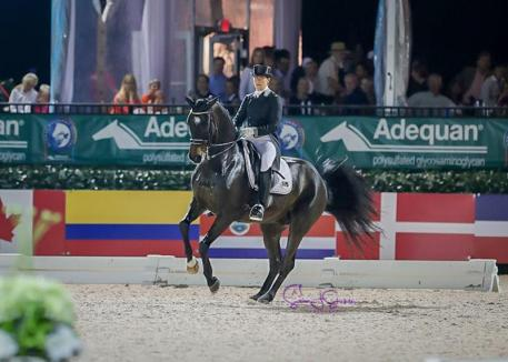 Sweden's Tinne Vilhelmson-Silfvén is second on Paridon Magi (Photo: ©SusanJStickle)