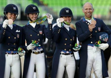US Dressage Team Olympic Bronze 2016 - Ali Brock, Laura Graves, Kasey Perry Glass, and Steffen Peters.