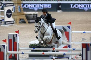 Wesley Newlands and her newest mount, Geisha van Orshof, competed at the Gucci Masters in Paris, France.