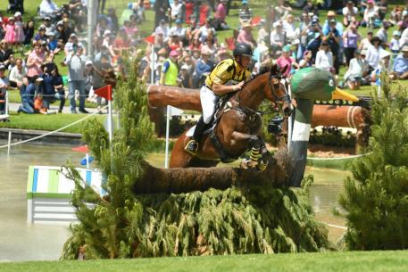 Wilhelm Enzinger Australia, riding Wenlock Aquifer in second place after cross country.
