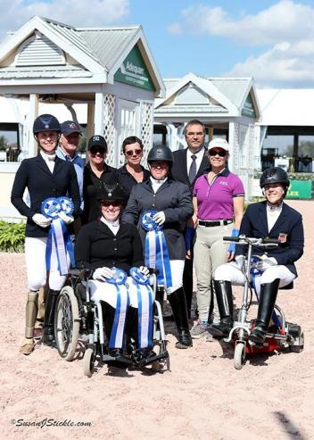 The winners of today's Para Individual CPEDI 3* tests  were honored with a presentation in the Global Arena at AGDF.