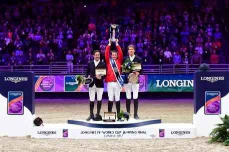 L to R: Romain Duguet (SUI), McLain Ward (USA) and Henrik von Eckermann (SWE)