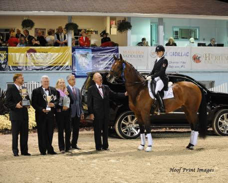 Ashley Holzer and Tiva Nana claim top prize in the FEI Grand Prix Freestyle (Photo: Hoof Prints Images)