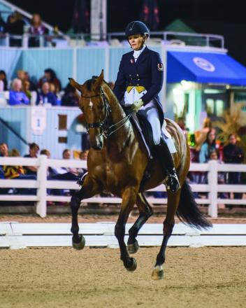 Three-time dressage Olympian Ashley Holzer uses Omega Alpha with confidence