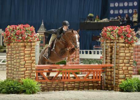 Winner of the 2014 0,000 WIHS Children's Hunter Championship was Aubrienne Krysiewicz-Bell on Monopoly (Photo: © Shawn McMillen Photography)