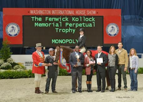 Monopoly and Aubrienne Krysiewicz-Bell in their winning presentation. Photo © Shawn McMillen Photography, www.shawnmcmillen.com.