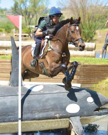 Barb Crabo and Over Easy won the CIC2* at the Galway Downs International Horse Trials. (Sherry Stewart photo)