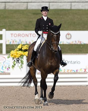 Local competitor Belinda Trussell of Stouffville, ON, and Anton in their Pan Am Games debut. Photo © Cealy Tetley