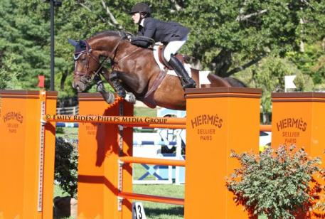 Brianne Goutal and Nice De Prissey finished second in the 00,000 Hermes American Gold Cup Grand Prix Qualifier.