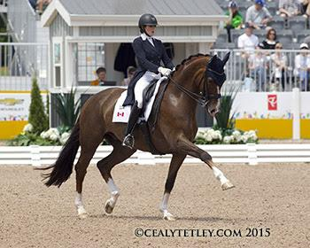 Brittany Fraser of New Glasgow, NS, rides All In in her major games debut. Photo © Cealy Tetley