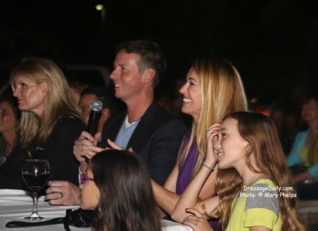 Carl Hester during his not so memorable night judging American Equestrians Got Talent night at The Grille.
