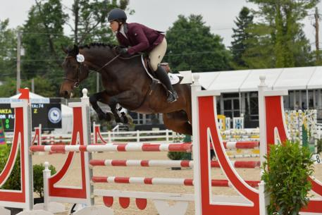 AliBoo Farm's Catania Saflo Z jumped to the top of the leader board both days in the Five-Year-Old Jumpers with Taylor Flury in the tack. (Photo: The Book LLC)