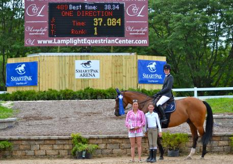 Celia Bresch and One Direction claimed the ,500 Child Adult Jumper Classic. (Photo: Elizabeth Stein)