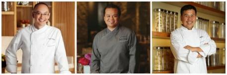 Chef Royden Ellamar of Sensi; Chef Edmund Wong, Executive Chef for Bellagio and Chef Patrick Lee of Noodles.