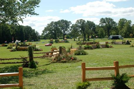 A view of the gorgeous field at Annali-Brookwood Farm. Photo Chicago Equestrian.