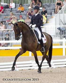 Chris von Martels and Zilverstar on their way to the individual bronze medal at the TORONTO 2015 Pan American Games. (Photo: © Cealy Tetley)