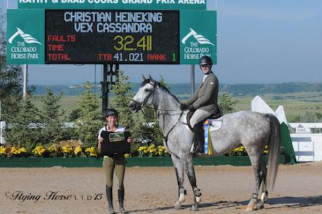 Christian Heineking and Vex Cassandra in their winning presentation (Photo: Flying Horse Photography)