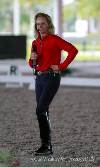 Olympian Debbie McDonald lends her expertise to the Rober Dover Horsemastership Program 2015. Photo: Sue Weakley