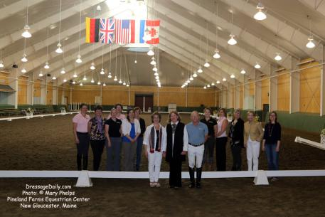 Dressage judge candidates with Pineland staff and clinicians plan to return for the next program already in the works.
