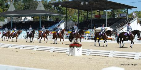 The DVCTA Quadrille Team performed Sunday at Devon (Hoof Print Images)
