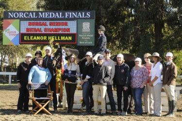 Eleanor Hellman continues her winning season by topping the Nor Cal Senior Medal Final. Photo: Deb Dawson