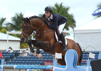 Hardrock Z was one of several horses that Emanuel Andrade competed in the FEI divisions at the Winter Equestrian Festival in Wellington, FL. Photo by Starting Gate Communications