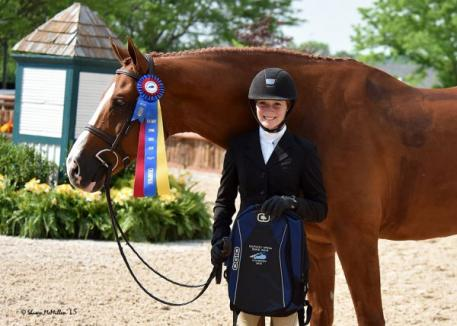 Emma Kurtz and Frederick were awarded the Junior/Amateur-Owner Hunter Grand Championship.